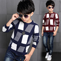 Boys child 100% cotton knitted basic shirt 2017 children's autumn and winter clothing child sweater baby sweater