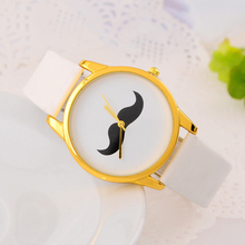 Women Watches Fashion Mustache Watch Leather Casual Quartz Creative Wristwatches Sports Watches for Men relogio feminino