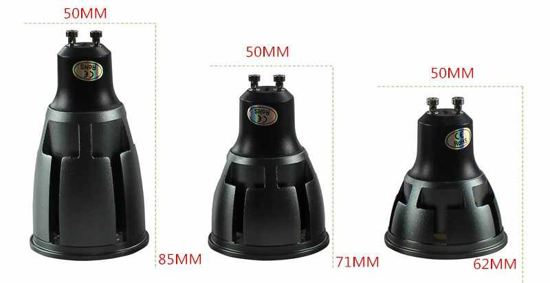 1 шт. сверхъяркий Регулируемый GU10 Коб 9 Вт, 12 Вт, 15 Вт, Светодиодный лампа AC110V 220 V Светодиодный прожектор теплый белый холодный белый светодиодный светильник