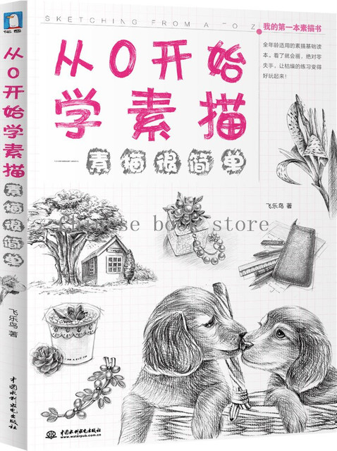 Pencil drawing textbook feile bird chinese line sketch tutorial book for very beginners it is easy