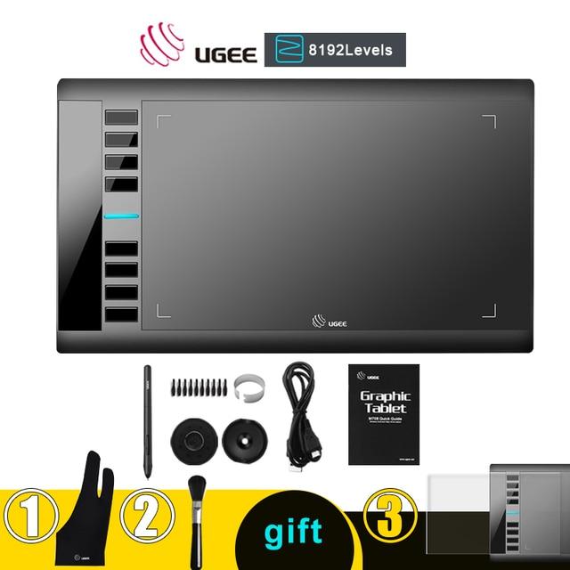 Ugee M708 V2 Digitale Grafiken Tablet für Zeichnung 10x6 Zoll Malerei Pad 8192 Ebene Grafik Tablet mit Batterie freies Stift