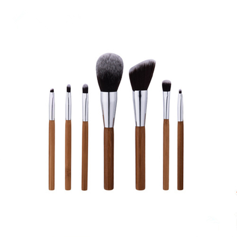 7PCS/set bamboo Makeup Brushes Set Powder Foundation Eyebrow Facial Brush Cosmetics Make up Tools Professional Make up Brush kesmall 10pcs professional makeup brushes set facial eyebrow eyeshadow powder foundation brush cosmetics make up tools co430