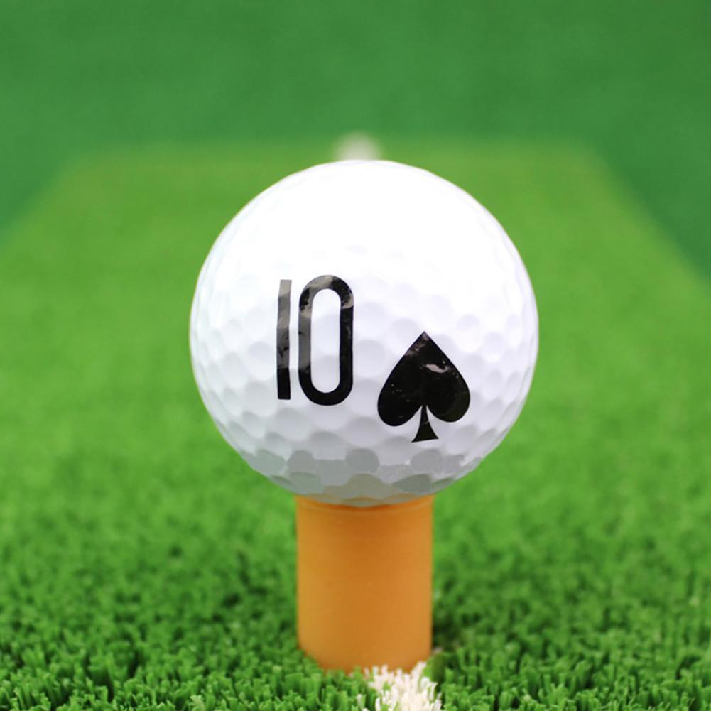 New Novelty Poker Golf Ball Rubber Indoor Outdoor Beginner Practice Training Aid Tool