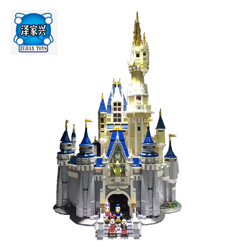 Free Shipping 4160Pcs Cinderella Princess Castle Model Lepines Building Kits Block Bricks Figures Toys lepin 16008 4160pcs cinderella princess castle city model building block kid educational toys for gift compatible legoed 71040
