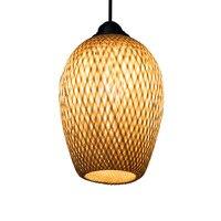 Китайский стиль подвесной светильник bamboo книги по искусству bamboo ткет пастырской ресторан спальня балкон японский фонари лампа для татами