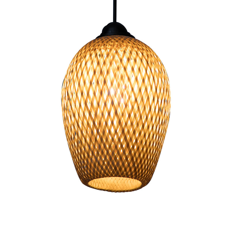 Chinese style pendant lamp bamboo art bamboo weaves pastoral restaurant bedroom balcony Japanese lantern tatami lamp chinese style wooden round wood art pendant lights of modern chinese restaurant restaurant balcony aisle festive lamp zs34