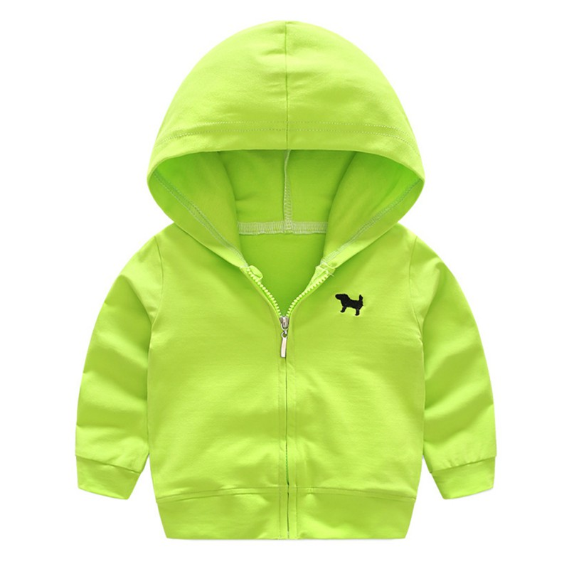 Autumn Baby Boys Hoodies Outwear Long Sleeve Solid Color Fashion Childrens Sweatshirts Cardigan Jackets Hooded Coat 0-4Y