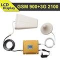 Display LCD GSM 3G Sinal Móvel Impulsionador GSM 900 mhz 3G WCDMA UMTS 2100 mhz Celular Repetidor de Sinal Dual Band Amplificador Celluar