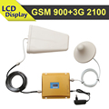 LCD Display GSM 3G Mobile Signal Booster GSM 900mhz 3G WCDMA UMTS 2100mhz Cellphone Signal Repeater Dual Band Celluar Amplifier