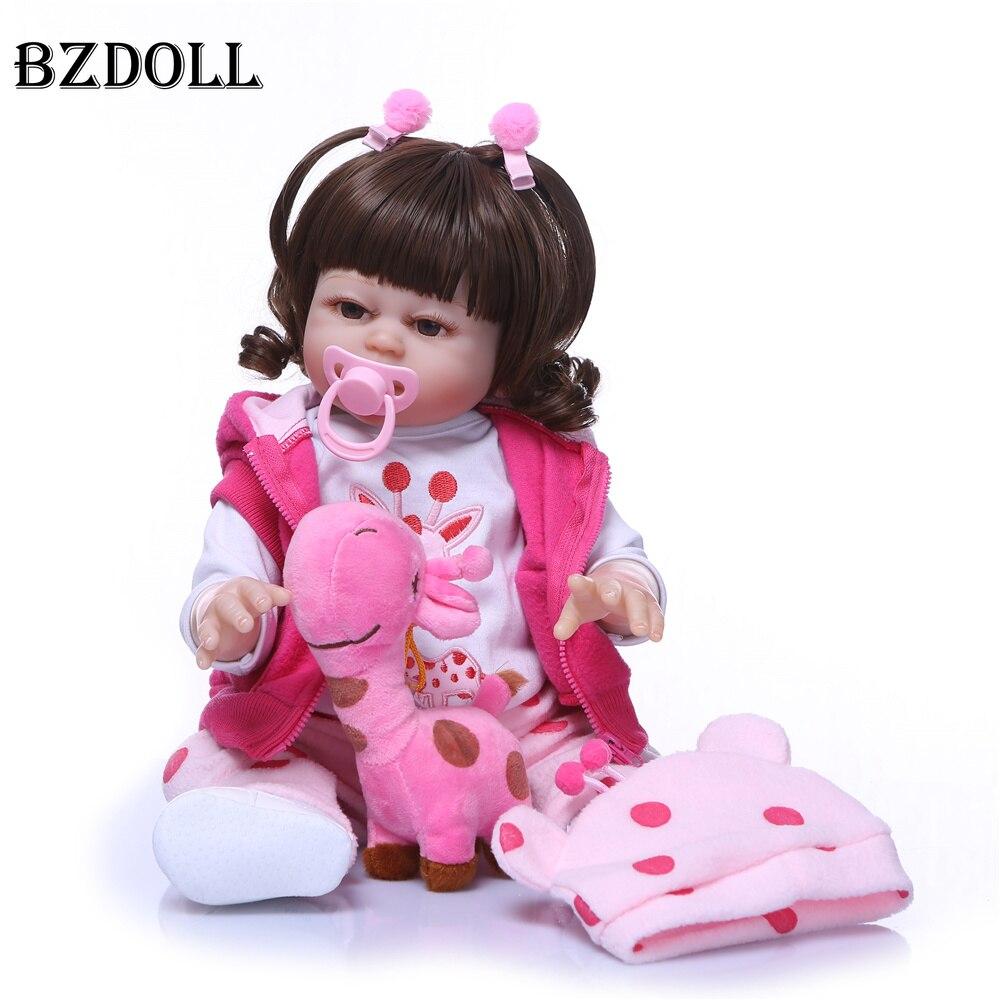 BZDOLL Realistic 50cm Full Body Silicone Vinyl Baby Dolls Handmade Newborn Princess Girl Toy Birthday Gift