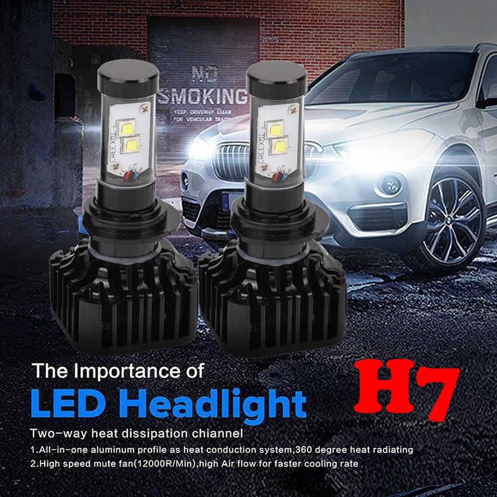 80W 8000LM H7 LED Headlight Kit Low Beam Light Bulbs 6000K White High Power bright item 17Sept18 fit byd chery lifan mg led headlbulbs h4 h7 h1 h11high low beam auto bulbs led 6000k canbus external light automobiles headlight