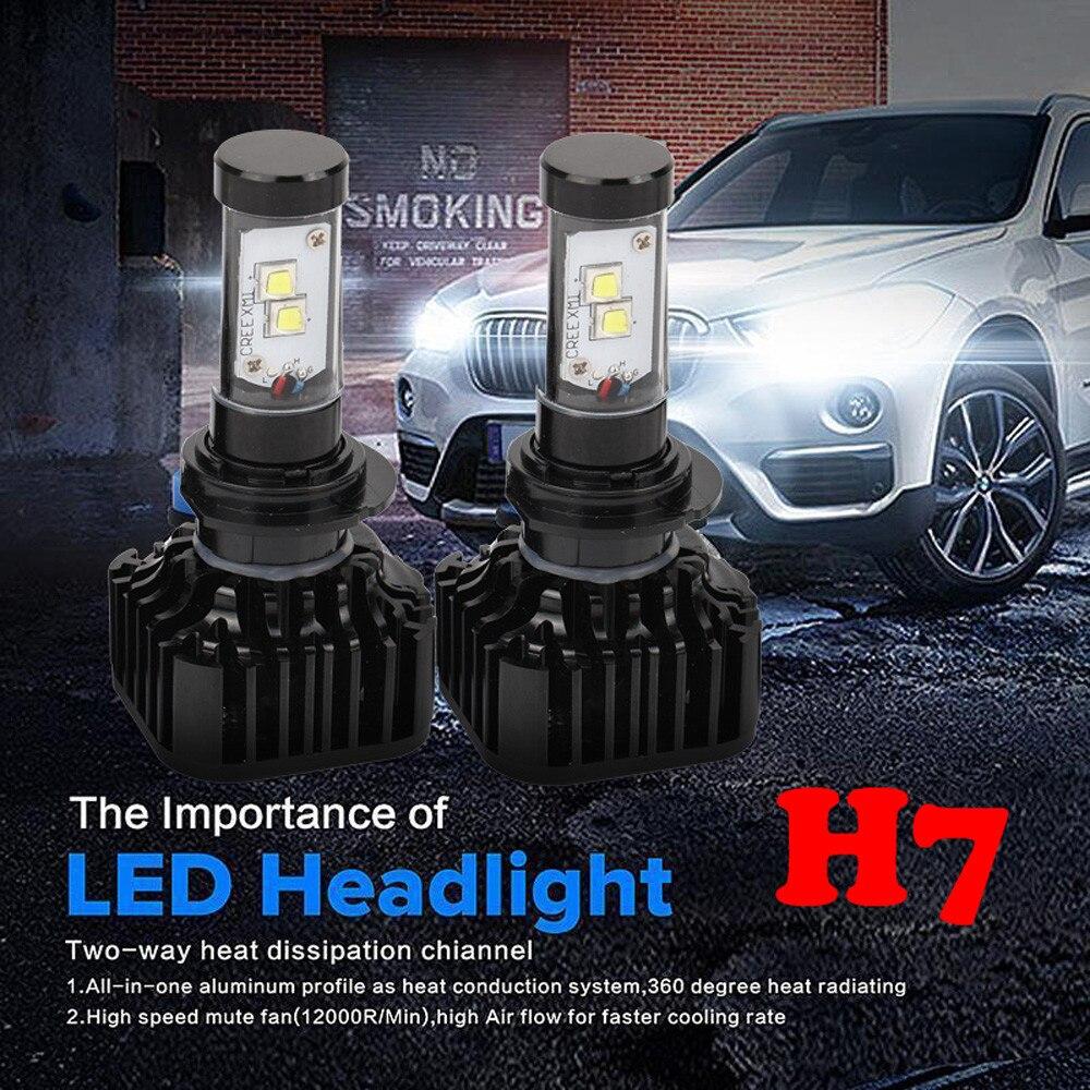 80W 8000LM <font><b>H7</b></font> <font><b>LED</b></font> Headlight Kit Low Beam Light Bulbs 6000K White High Power bright item 17Sept18