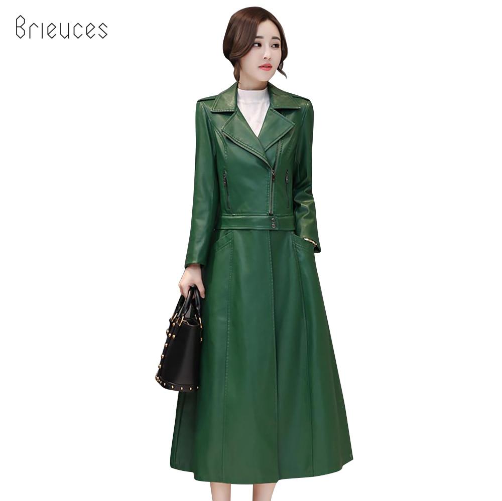 new 2018 X-Long AutumnLeather Jacket Women Winter Plus Size 4XL Detachable Faux   Leather   Coat Female Windbreaker Deconstruction