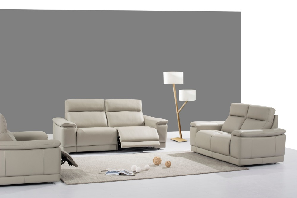 Cow real genuine leather sofa set living room sofa for Sofa and 2 chairs living room