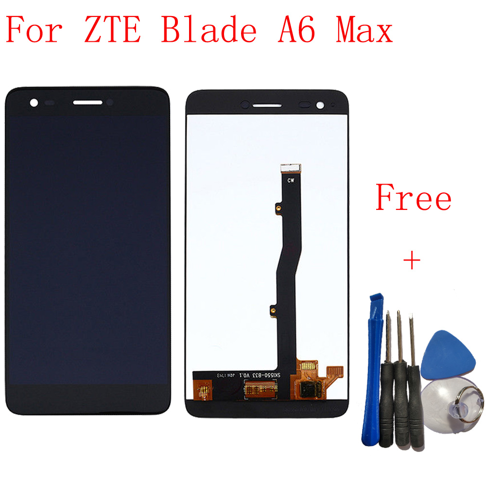 100% Tested 5.5 For ZTE Blade A6 Max A6Max A0605 Full LCD DIsplay + Touch Screen Digitizer Assembly Replacement + Tools100% Tested 5.5 For ZTE Blade A6 Max A6Max A0605 Full LCD DIsplay + Touch Screen Digitizer Assembly Replacement + Tools