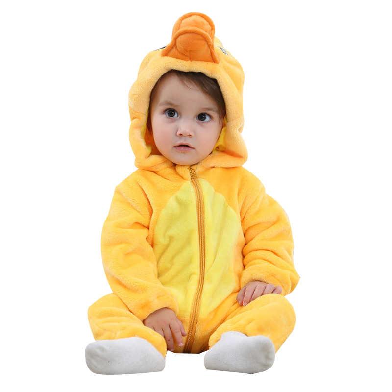 Flannel Rompers กระต่ายผ้าฝ้ายเด็กทารกเด็กผู้หญิงฤดูใบไม้ผลิฤดูใบไม้ผลิฤดูหนาว Stitch ชุดเด็กทารก Kigurumi เสื้อผ้าเด็กแรกเกิด 2019