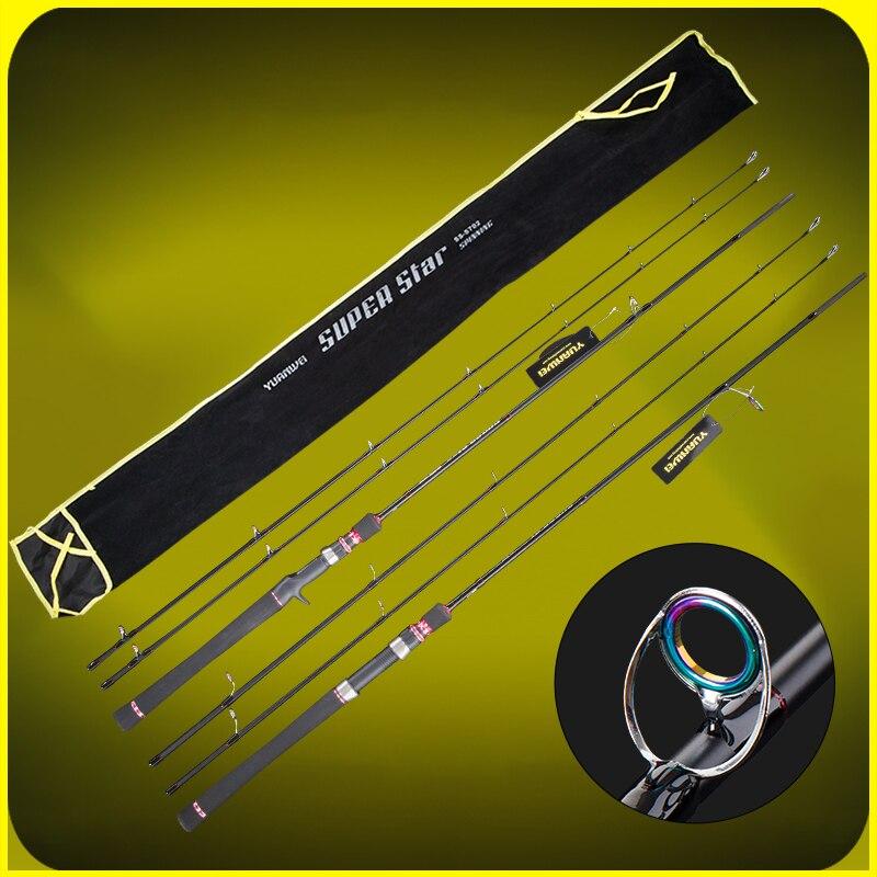 Yuanwei 2.1 m tige de filature tige de coulée deux embouts M puissance canne à pêche en Fiber de carbone bâton de pêche Olta 4 couleurs B185