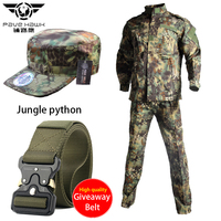 Hiking Airsfot Hunting Tactical Army Uniform Set Shirt Pants Kryptek Black Camouflage Combat Jackets Military Outdoor Clothing