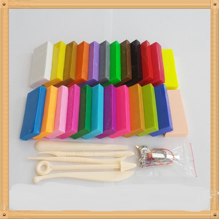 Prism&Pro polymer clay brand set ,Children and clay artist gifts 24 difference colour +TOOL+accessories