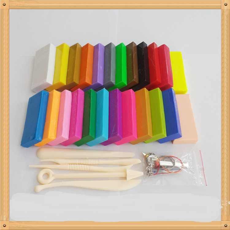 Prism & Pro polymer clay marke set, Kinder und ton künstler geschenke 24 unterschied farbe + WERKZEUG + zubehör