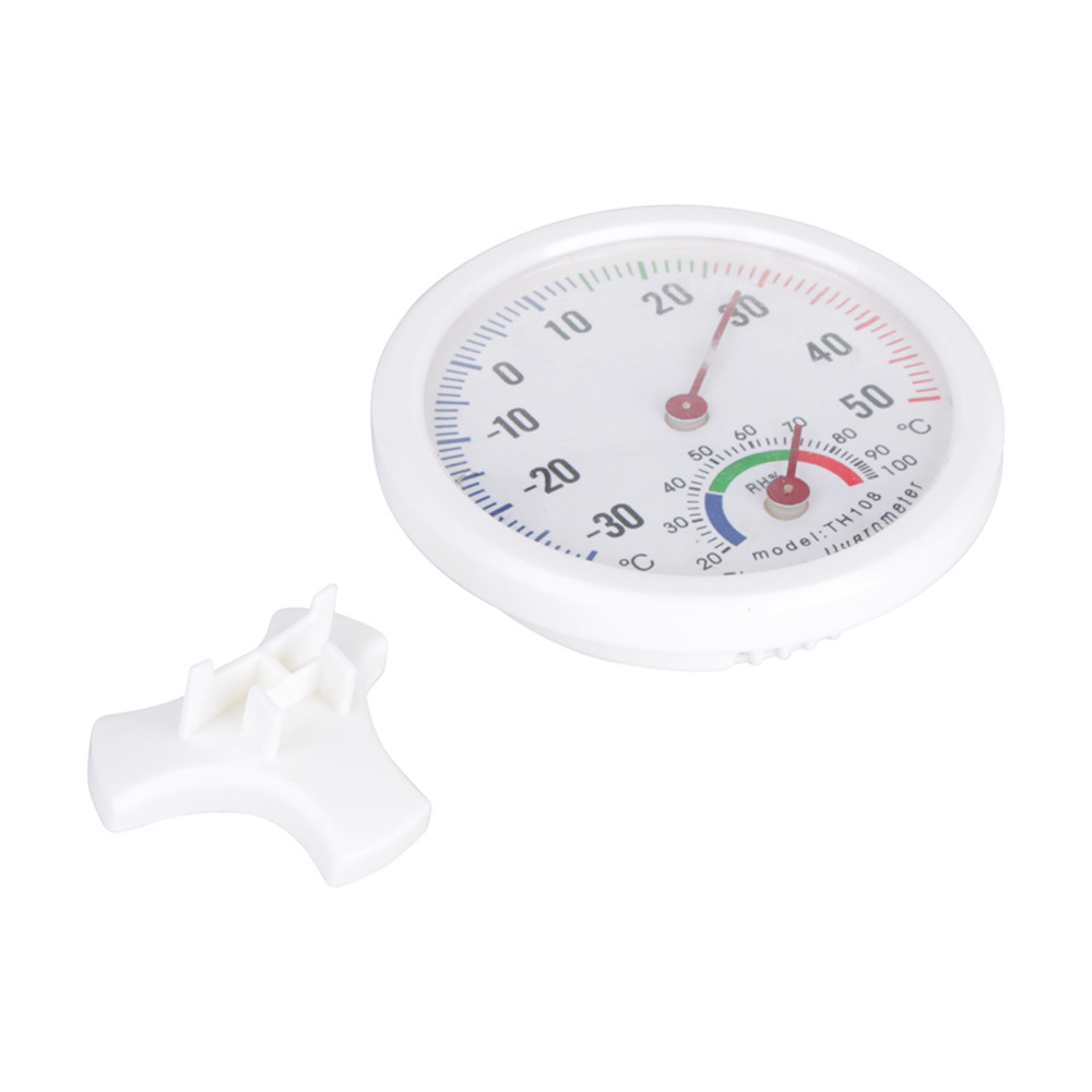 Kitchen Household Thermometers Useful White Baby House Room Round  Thermometer Wet Hygrometer Temperature Meter In Temperature Gauges From  Home U0026 Garden On ...