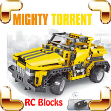 New Idea Gift 8003 Mighty Torrent 4 CH RC Remote Control Blocks Toy Car Education DIY Bricks Model Vehicle Drive Fun Creative