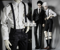 NEW Black/Red /Brown /light blue/Black and white grid All-match pants overalls For BJD BOY 1/3 1/4 Doll Clothes