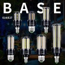 LED E27 Corn Bulb 220V Bombillas Led E14 Smart IC Lamp SMD 5736 Lampada 3.5W Energy saving Light 110V No Flicker 28LEDs
