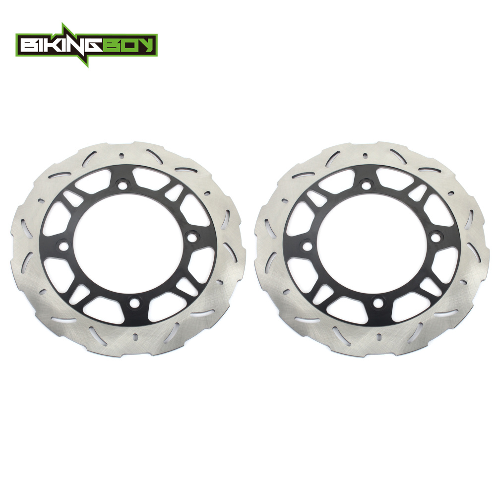 BIKINGBOY Front Brake Discs Rotors Disks for <font><b>Suzuki</b></font> AN 650 <font><b>Burgman</b></font> 02 03 <font><b>AN650</b></font> Skywave Z 2003 2003 K2 K3 Motorcycle Replacement image