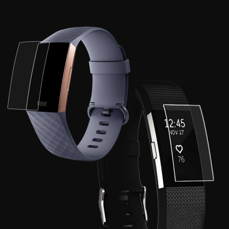 5pcs Anti-scratch Ultra Clear Protective Film Guard For Fitbit Charge 2/3 Charge3 Charge2 Wristband Full Screen Protector Cover
