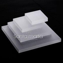 Lot von 4 Schmuck-Display Bord Matt/klar/weiß Acryl Schmuck Display Blöcke Schmuck/Uhr Display-ständer
