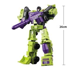 Image 5 - G1 transformação wj devastator 6 em 1 conjunto dx9 liga metal engenharia caminhão modelo ko figura de ação robô deformado carro brinquedos presente