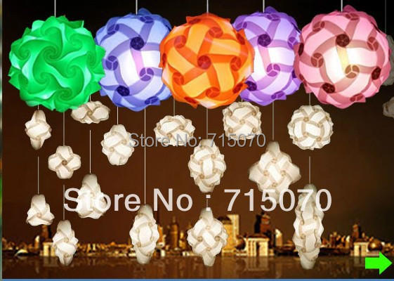Free Shipping Diy Light Chandelier Iq Puzzle Jigsaw Lights Small Size Mix Color Ng 1500pcs Per Lot