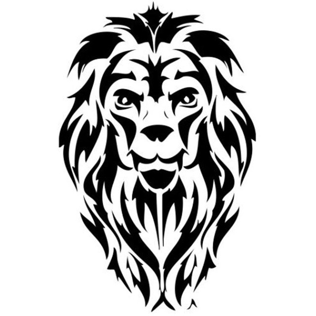 10 7x17 cm tatouage tribal tigre lion t te de voiture autocollant noir argent vinyle decal. Black Bedroom Furniture Sets. Home Design Ideas