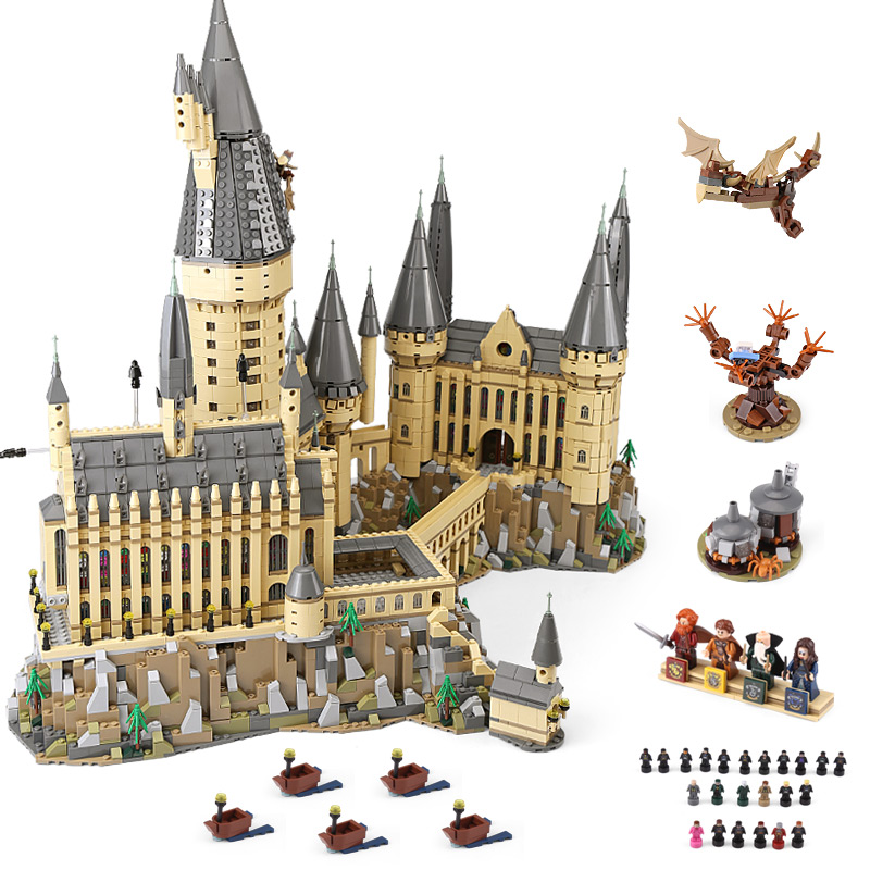 DHL 16060 Movie Toys Series The 71043 Magic Castle School Set Building Blocks Bricks Assembly House Model Kids Christmas Gifts