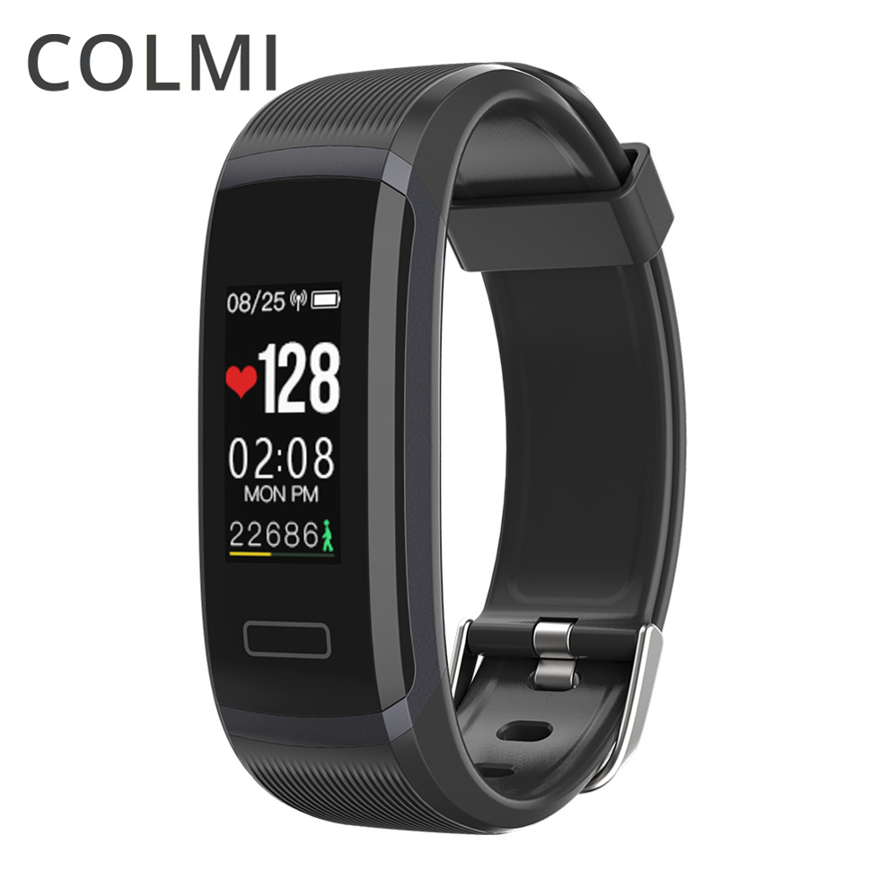 COLMI Smart Wristband Bluetooth 4.0 Color Screen Passometer Sleep Monitor IP68 Waterproof Bracelet For Android IOS PK miband 2