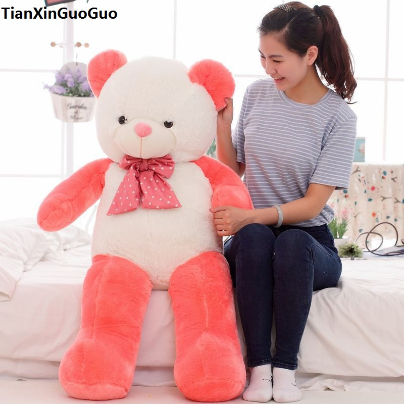 new arrival stuffed plush toy watermelon teddy bear doll large 100cm soft throw pillow toy Christmas gift b2789 fall in love teddy bear large 100cm plush toy night sleeping bear doll taking moon throw pillow christmas birthday gift x020