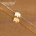2019 Gold Color Charms Bracelet Femme Stainless Steel Women Dainty Jewelry Lucky Origami Elephant Bracelets Friendship Gifts BFF