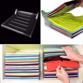 цена на 5pcs Wardrobe Clothes Storage Cabinets Holder Clothing Storage Rack Durable Laundry Organizer Folding Board Dropship Home