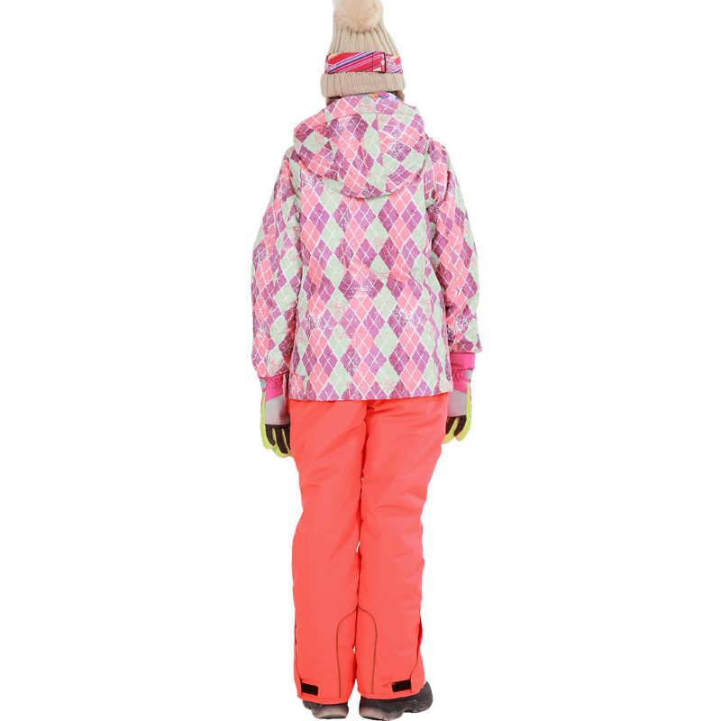 Бесплатная доставка, зимний комплект одежды для детей, ветрозащитная лыжная куртка + штаны, детские зимние комплекты, теплый лыжный костюм для мальчиков и девочек