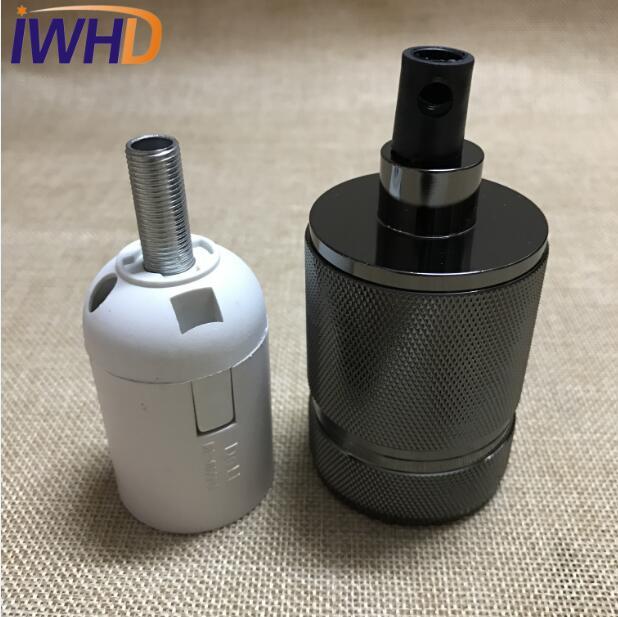 Portalampada, винтажный E27 патрон для лампы, фитинг, промышленный стиль, дуиль E27, винтажный патрон для лампы Эдисона, подвесное основание для патрона - Цвет: 11