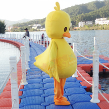Hot Sale Yellow Duck Mascot Costume Cartoon Character Carnival Fancy Dress Outfit Adult Mascot Costume Xmas Gift
