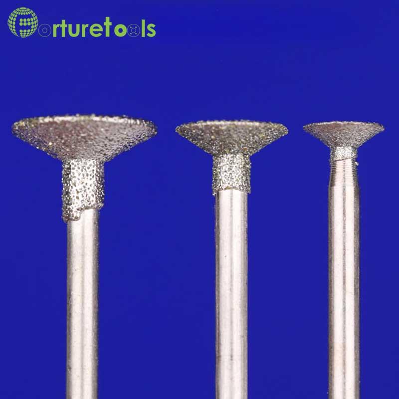 50st diamantmonterade punkt dremel roterande verktygsmonterade hjul - Slipande verktyg - Foto 6