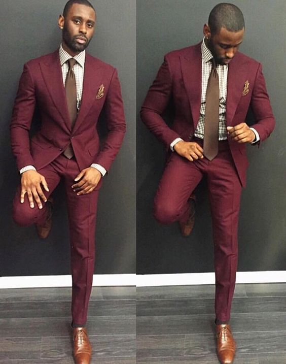2017 Latest Coat Pant Designs Burgundy Formal Men Suit Skinny ...