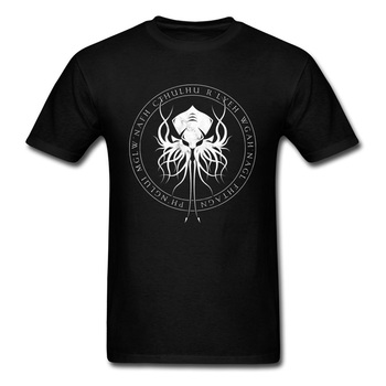 Cthulhu Sigil T Shirt 3D Printed T-Shirt Fitted Tshirt Top Quality Men Clothing Black White Tops Geek Style Tee For Boyfriend