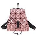 3D Láser de Diamantes Unisex mochila bolsa de estilo único super cool bolsa de arco iris de colores de Plata bolsa de la escuela las mujeres bolsa de viaje