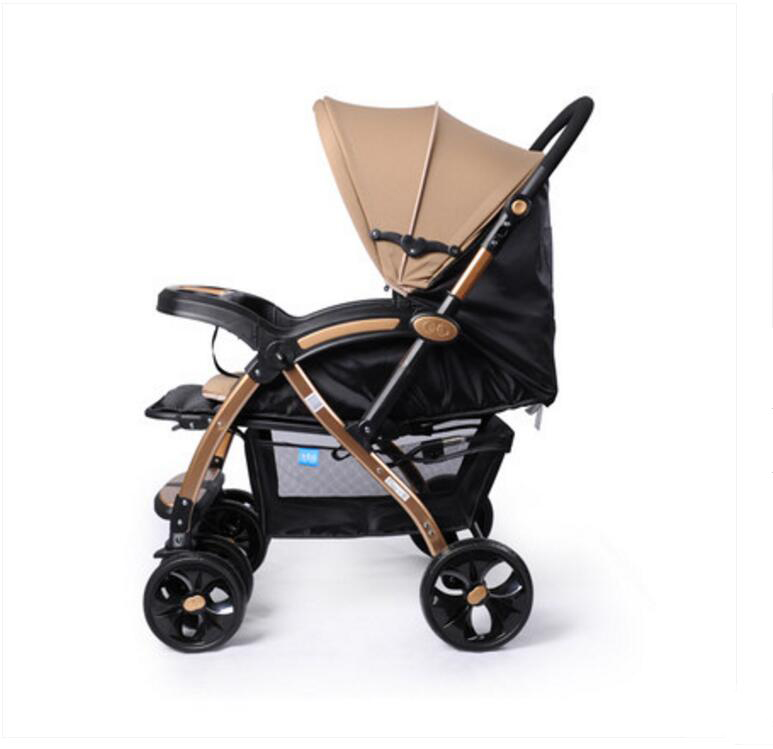 ФОТО bbh baby stroller shock absorbers can be two-way folding can sit flat-wide children