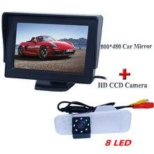 Автомобиль авто камера заднего вида 170 hd ccd широкоугольный объектив + 8 led специальный тип + сзади автомобиля цветной монитор для KIA K2 седан