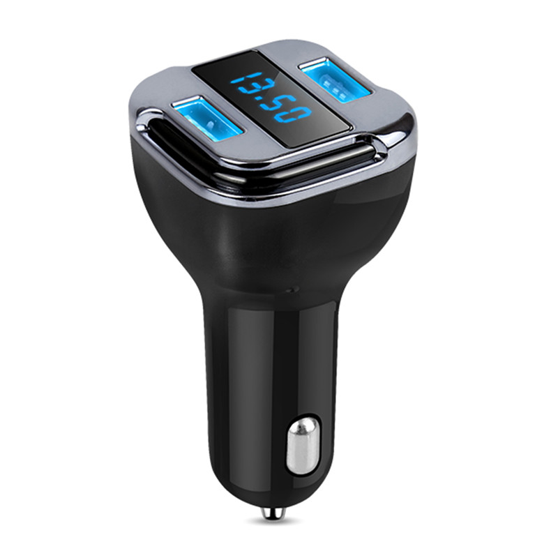 USB Charger Satellite Positioning GPS Position Car Charger Multi-function LED Display Screen Chargeur Mobile Phone Charger