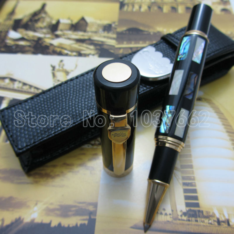 Deep Sea Bright Pearl Shell JINHAO roller pen M NIB and holster free shipping jinhao ancient dragon playing pearl roller ball pen with jewelry on top with original box free shipping
